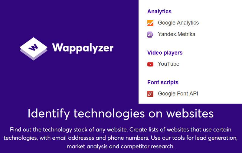 Cara Mengetahui Teknologi Website dengan Wappalyzer