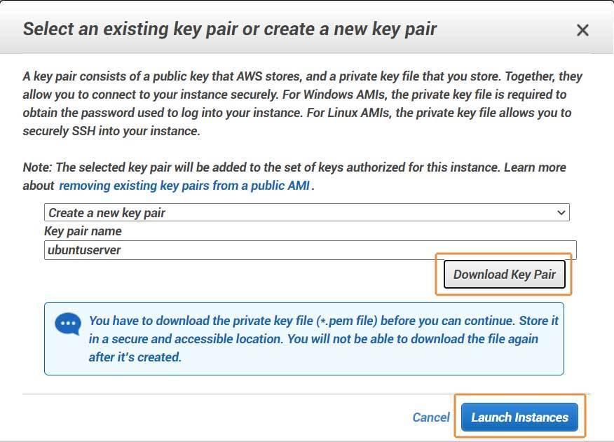 Buat Key Pair untuk koneksi dengan SSH client