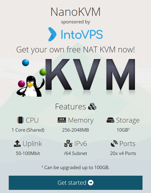 NanoKVM Provides free KVM with NAT IPv4 + /64 IPv